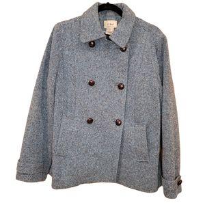 L.L. Bean Blue Tweeter Pea Coat Size M